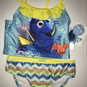 Finding Dory Girl's 6-6X 2 Piece Tankini Swimsuit